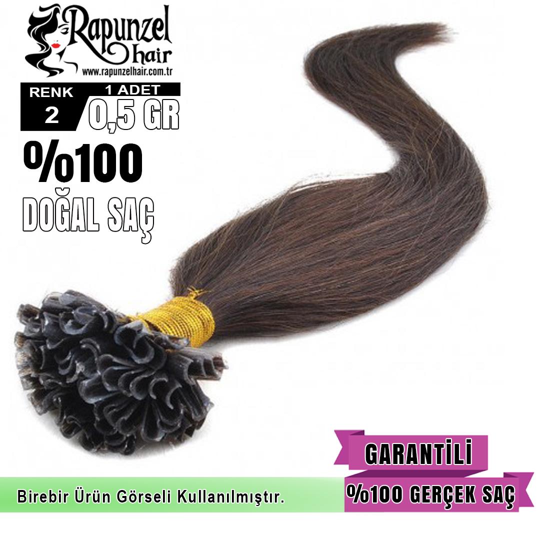 Mikro Kaynak Saç Koyu Renk (min. 100 adet) %100 Gerçek Saç Garantisi  1 Adet 0,55gr 60 cm uzunluğunda