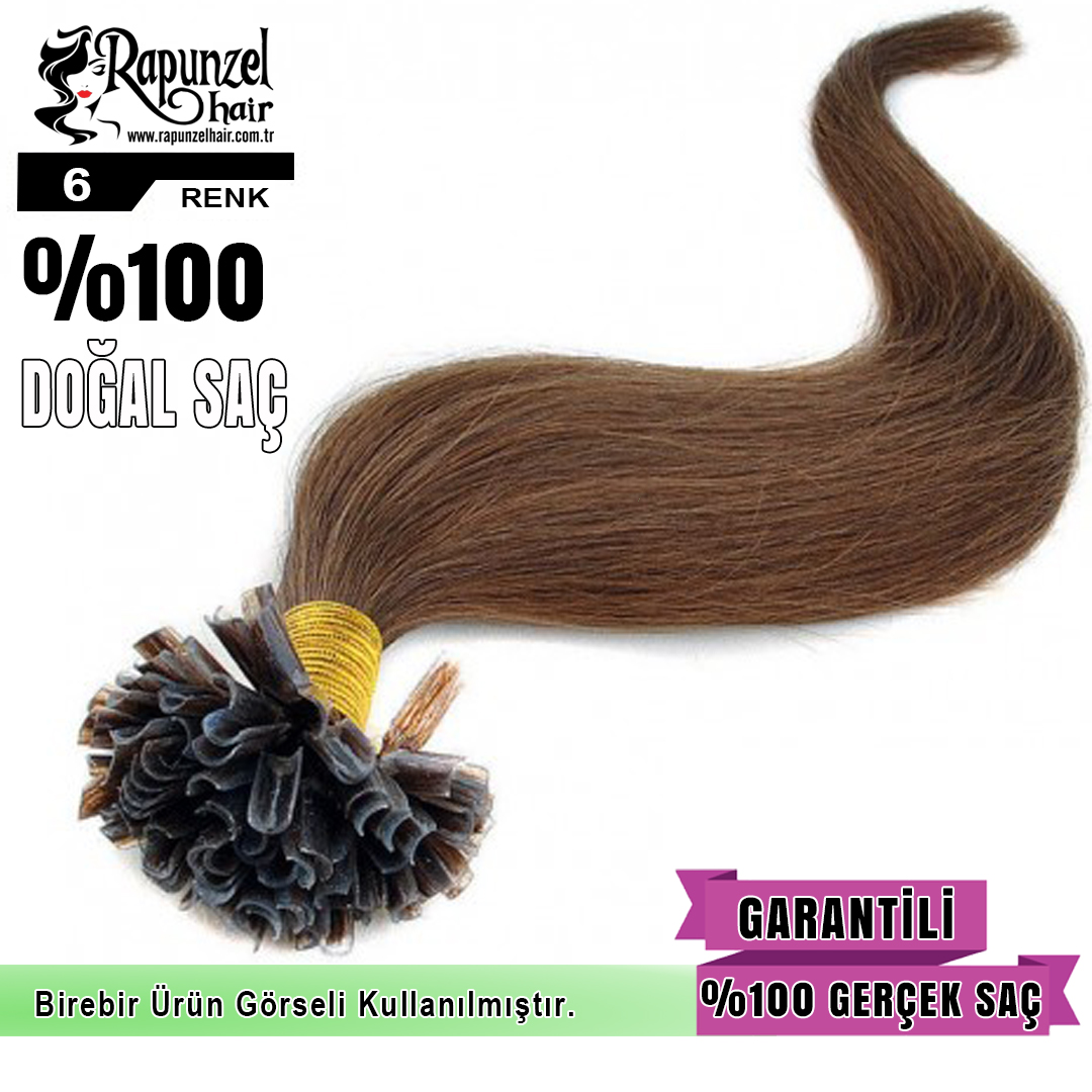 Mikro Kaynak Saç Koyu Renk (min. 100 adet) %100 Gerçek Saç Garantisi  1 Adet 0,55 gr 60 cm uzunluğunda